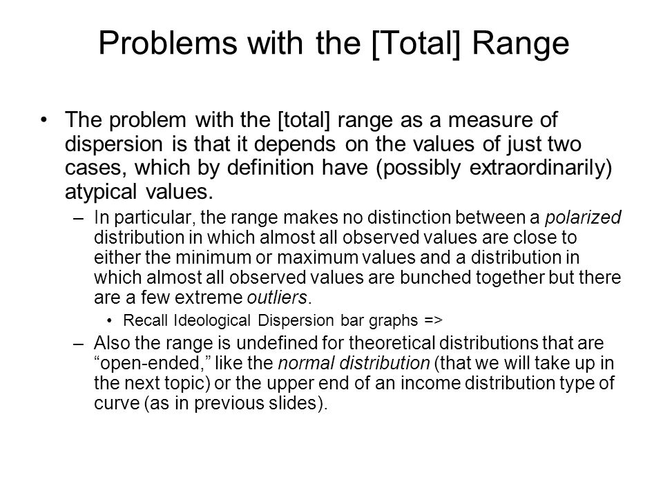 Problems with the [Total] Range